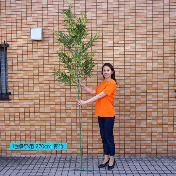 地鎮祭用本格竹・笹(260cm) [大型商品160cm以上]