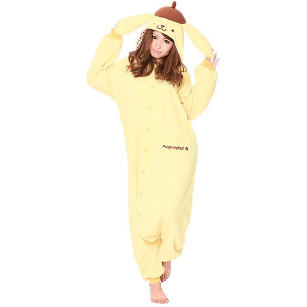 顔出し着ぐるみパジャマ ポムポムプリン