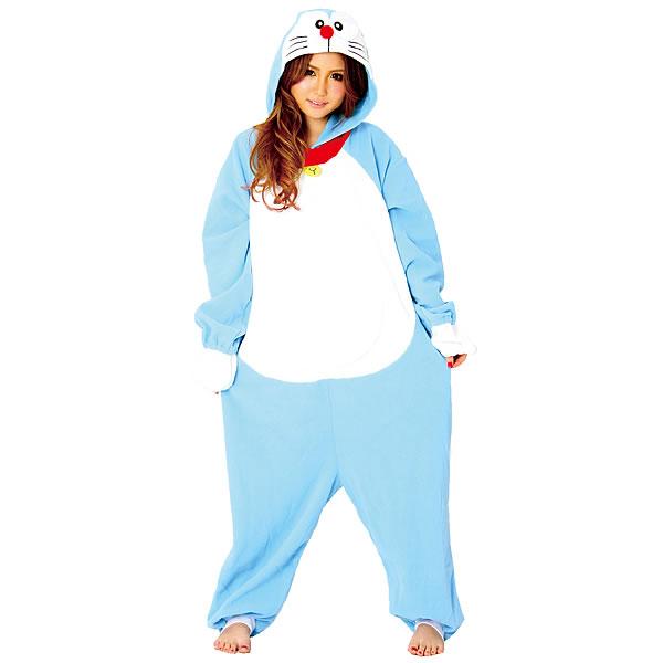顔出し着ぐるみパジャマ ドラえもん【コスチューム・変装・コスプレきぐるみ】