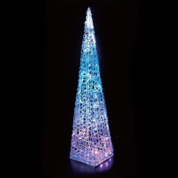 LEDイルミネーション クリスタルモチーフツリー H90cm ブルー [北海道 沖縄 離島への配送不可]