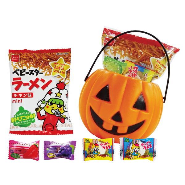 ハロウィンパンプキンミニポット キャンディ5粒入り 100個