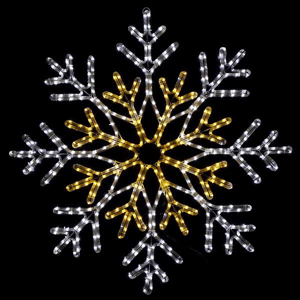 [早期割引セール] LEDイルミネーション チューブライトスノーフレークDX 100cm×100cm [大型商品160cm以上] / クリスマス