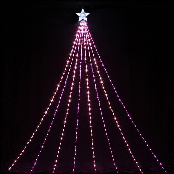 LEDイルミネーション 防滴ナイヤガラライト5mDX ピンク&ベビーピンク 510球 / クリスマス