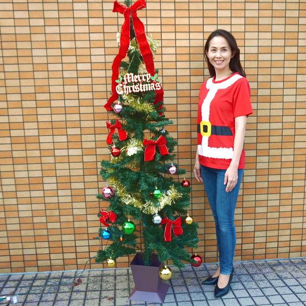 クリスマス装飾 クリスマスツリーセット スクェアポット付 180cm(オーナメント付) / ディスプレイ 飾り