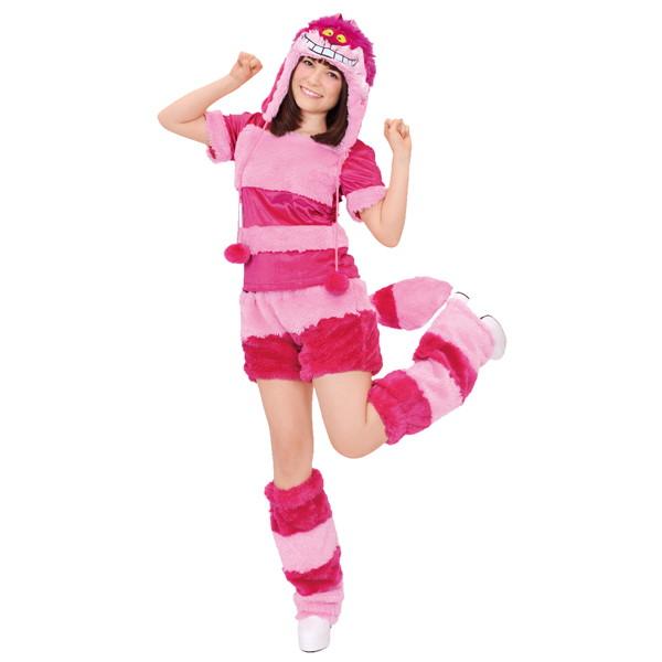 ハロウィンコスチューム モコモコチシャ猫 Disney Moko Moko Costume Adult Cheshire Cat
