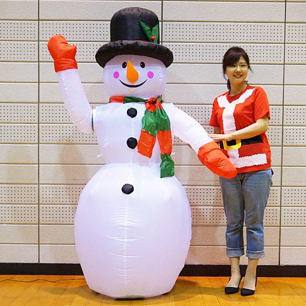 クリスマスエアブロー装飾 動くハンドムービングスノーマン H180cm/動画有