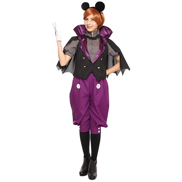 ハロウィンコスチューム 大人用ヴァンパイアミッキー  Adult Vampire Mickey