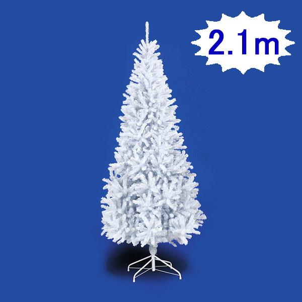 クリスマスツリー スリムホワイトツリー H210cm×W100cm 3分割 / 装飾 デコレーション
