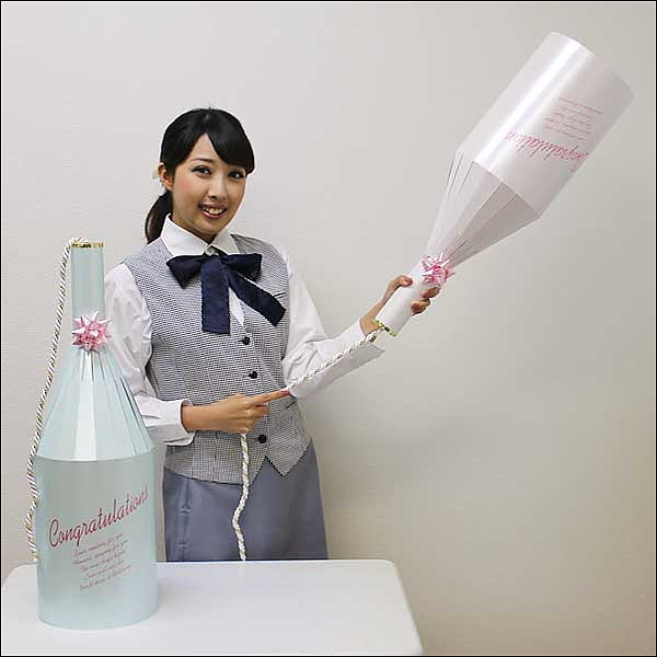 ワイン型ブライダルクラッカー(2ヶ)