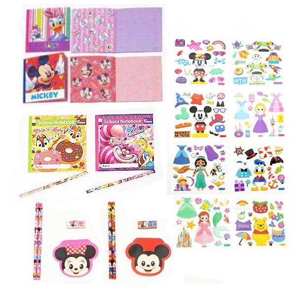 ディズニー文具 色々お買得147個セット/ 景品 プレゼント 粗品