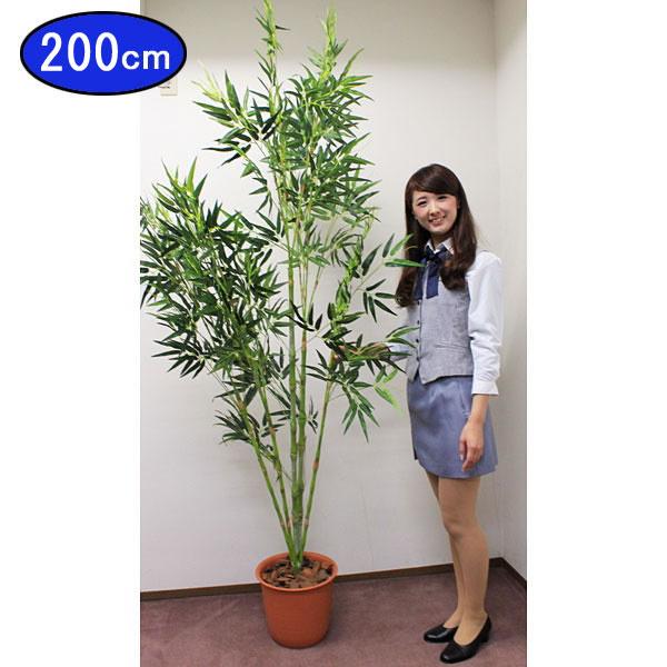 本格(笹はポリエステル布製)竹笹ポット(高さ210cm) [大型商品160cm以上]