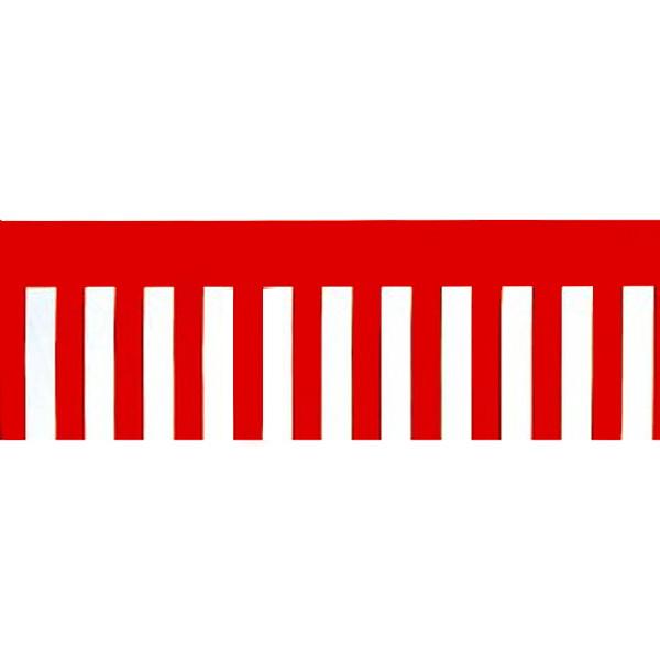 正月装飾ビニール幕 紅白幕 60cm×50m巻 [北海道 沖縄 離島への配送不可]