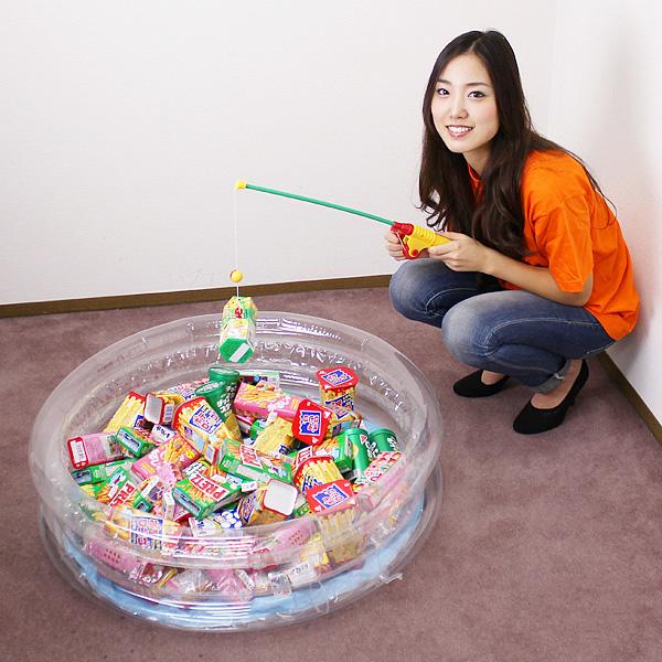 おやつのお菓子つりつり大会 78個 /動画有