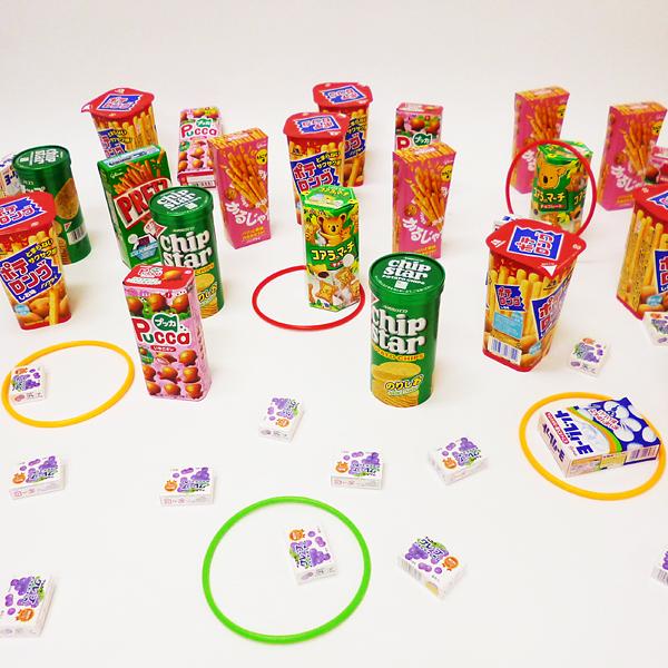 おやつのお菓子 輪なげセット 120個【景品・縁日・お祭り】 /動画有