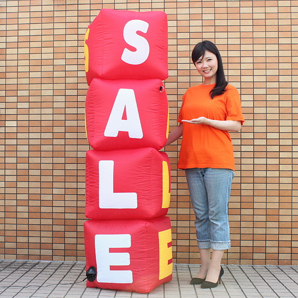 エアPOPディスプレイ SALEサインボード ディスコライト付 H185cm