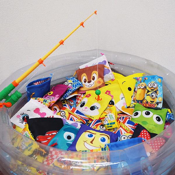 ミニオンズ+ディズニーのお菓子入巾着袋つりイベント大会 56名様用/動画有