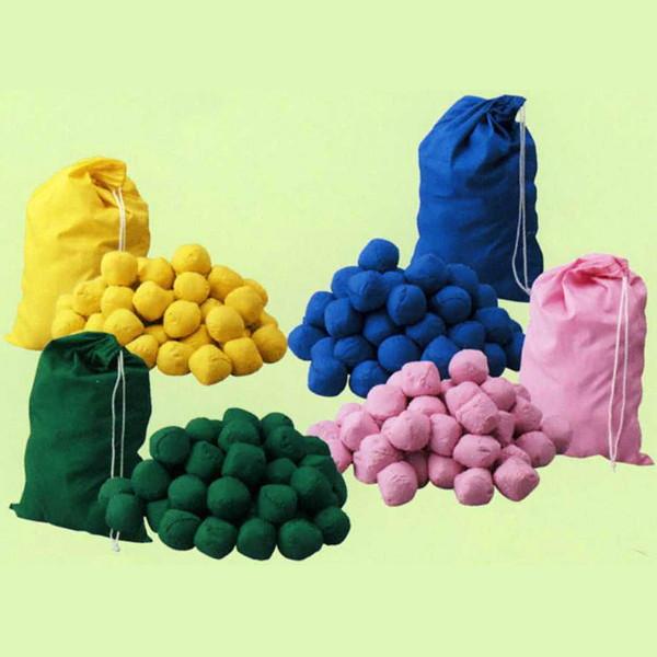 玉入れ用玉(オガクズ入り) カラー 50球 袋入り