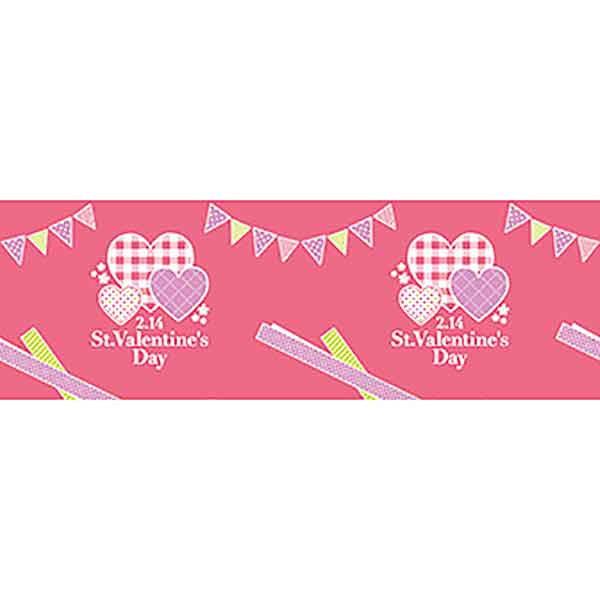 バレンタイン装飾 ビニール幕 St.ValentinesDay 60cm幅×50m巻