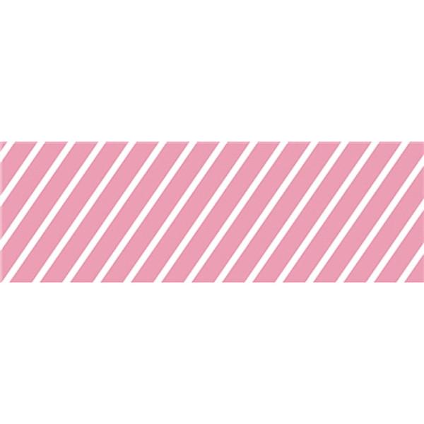 バレンタイン装飾 ビニール幕 ストライプピンク 60cm幅×50m巻