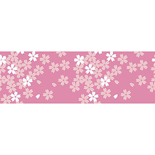 桜装飾 ビニール幕 桜イラスト 60cm×50M巻 / 飾り ディスプレイ 春