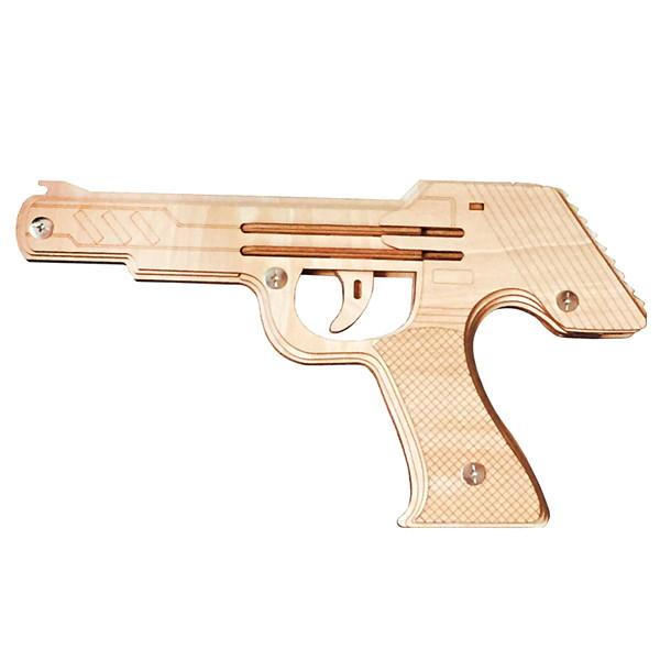 木工工作キット 輪ゴム銃 Aタイプ(9連射モデル) 10個/動画有