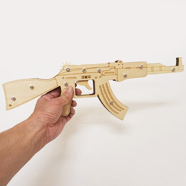 木工工作キット 輪ゴム銃 Cタイプ(6連射モデル) 10個