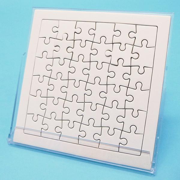 お絵描きジグソーパズル・白いジグソーパズルケース入 36ピース(30個)/ 動画有