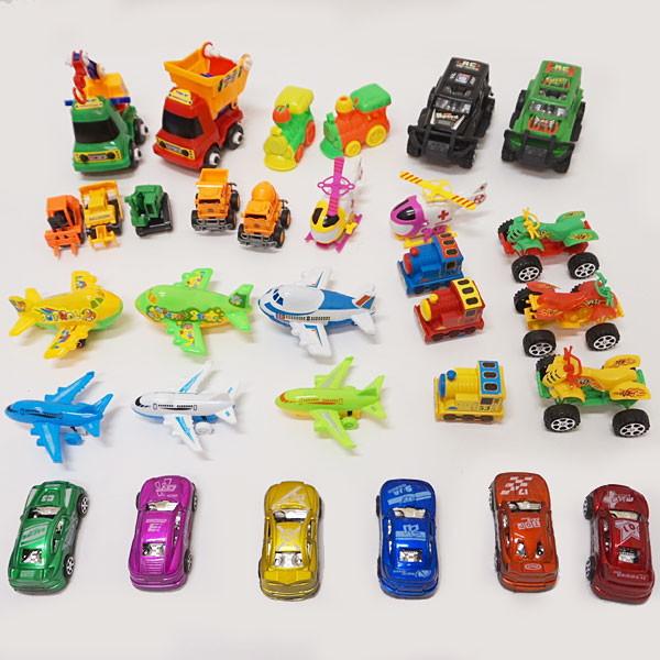 楽しい乗物おもちゃ(飛行機・ドクターヘリ・汽車・バイク・車など)抽選会イベントセット 88個