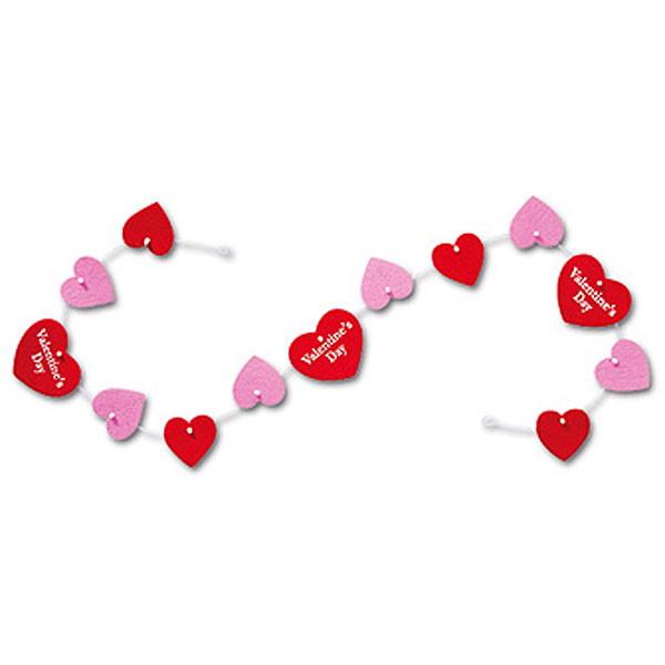 no-881 バレンタイン装飾 フェルトハートバナー 5本セット 数量限定 L120cm 動画有 驚きの値段で