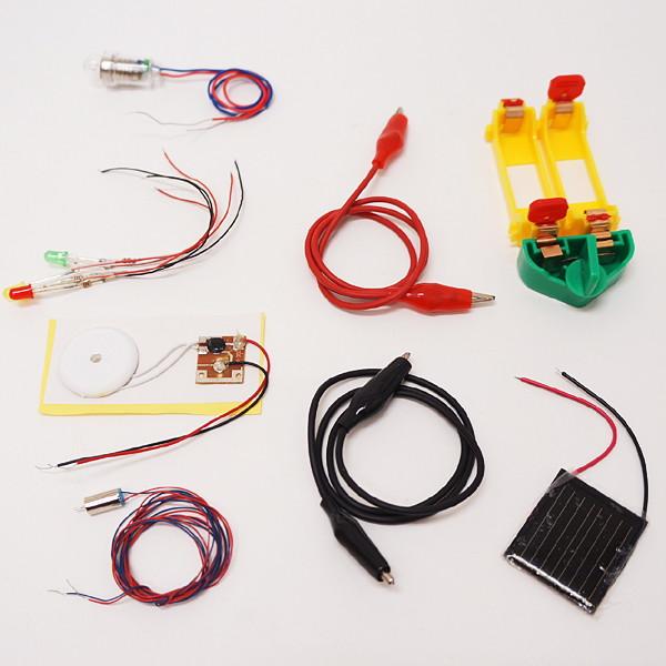 年中無休 no-9771 格安店 初めて電気を学ぶ実験キット 太陽電池 小さいモーター 動画有 LED電球のセット 電子オルゴール