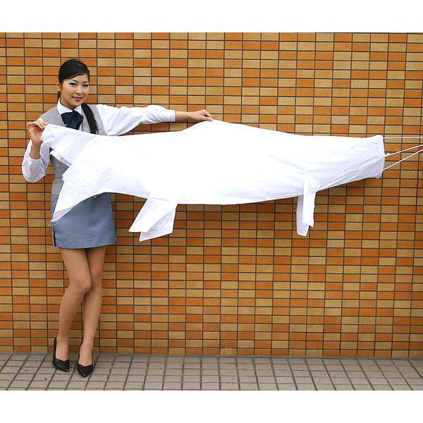 色塗りできる 白色布製こいのぼり 180cm / 手作り工作 工作イベント