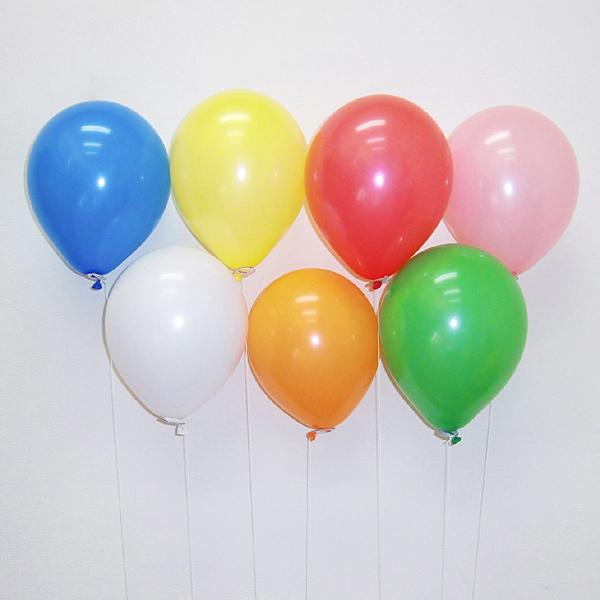 天然ゴム風船 無地カラーヘリウムガス用(300ヶ) 糸付きボール紙どうぶつクリップ【バルーン】/ 動画有