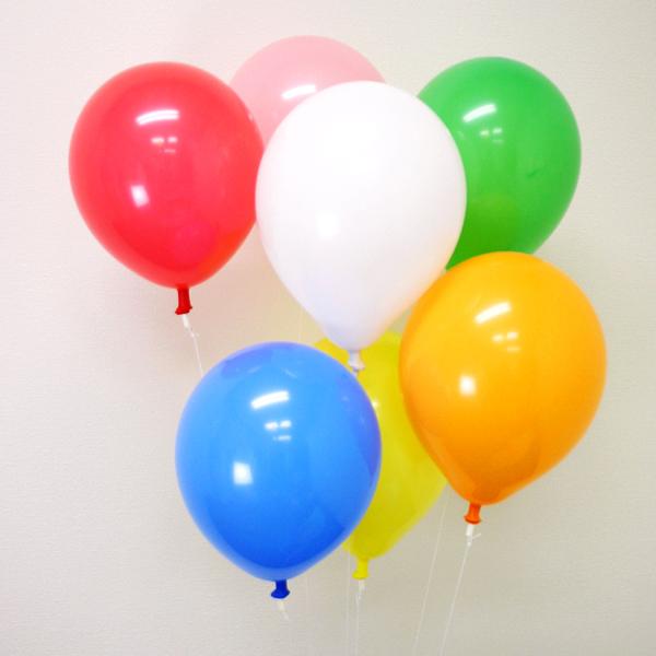 天然ゴム風船 無地カラーヘリウムガス用(300ヶ) ワンタッチバルブ、糸付【バルーン】【/ 動画有