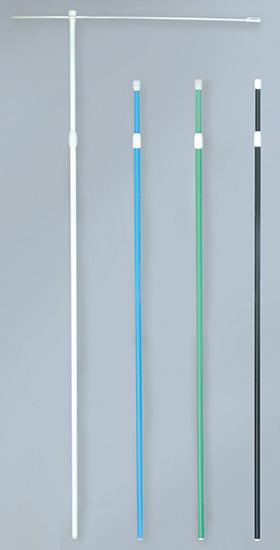 のぼり旗 ポール 3m強風ポール 20本入1ケース/青/直径25mm/横棒850mmコーティング No.950 伸縮