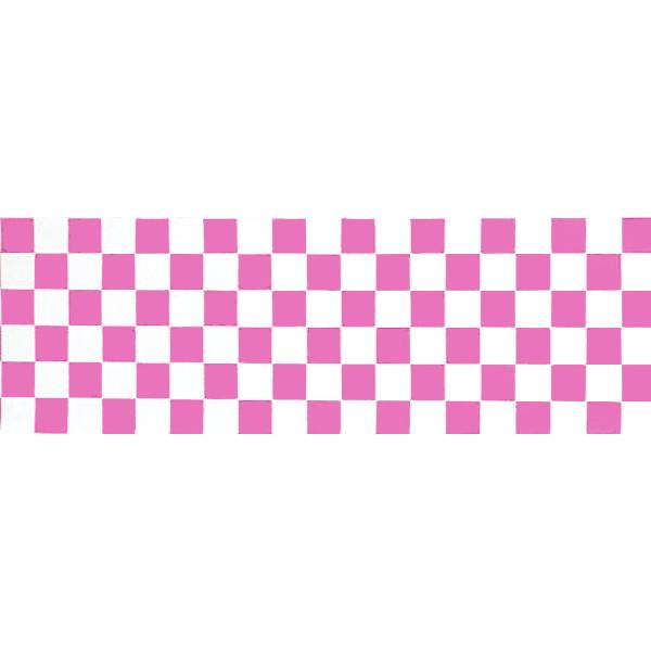 [送料無料] 正月装飾ビニール幕 ピンク市松 60cm×50m巻