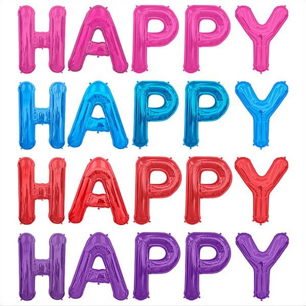 90cmアルファベットバルーン 「HAPPY」セット