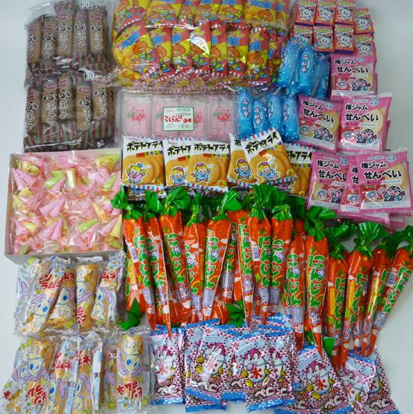 [送料無料] サイコロ出た数だけ駄菓子プレゼント 340個