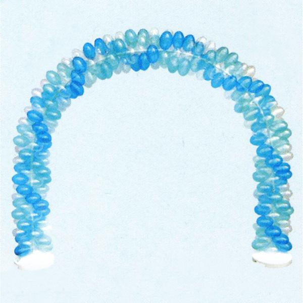 [送料無料] バルーンアーチセット G-透明青×薄青 [大型商品160cm以上]