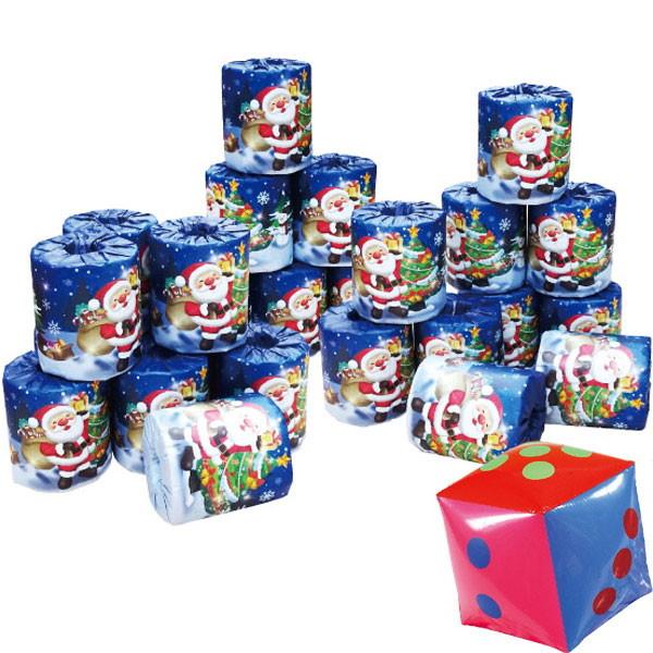 [送料無料] サイコロ出た数だけサンタトイレットペーパープレゼント抽選会(約25名様用) / クリスマス 当てくじ
