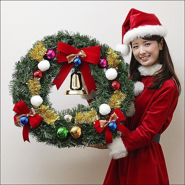 [送料無料] クリスマス装飾 スノーフォールリース 60cm / 飾り付け ディスプレイ デコレーション