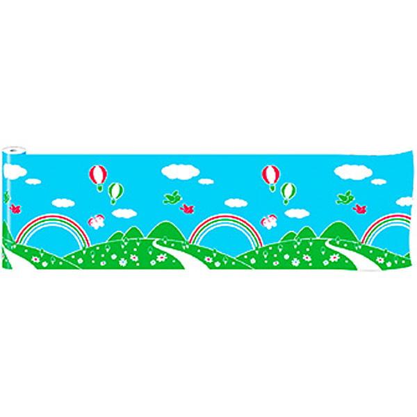 青空装飾 青空ビニール幕 60cm×50M巻 / 飾り ディスプレイ