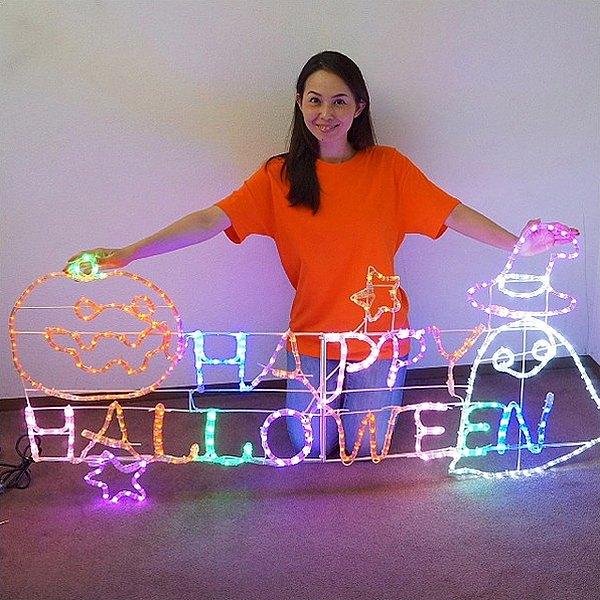 [送料無料] ハロウィン装飾 LEDチューブライト ハロウィンフレンズ W160cm