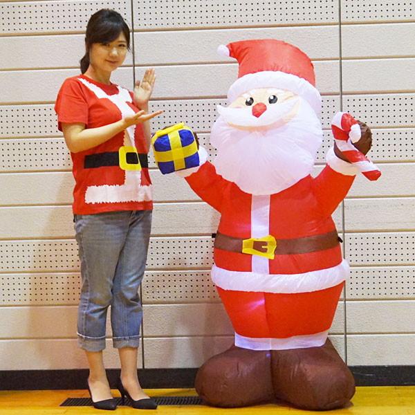 クリスマスエアブロー装飾 サンタ H150cm×W95cm