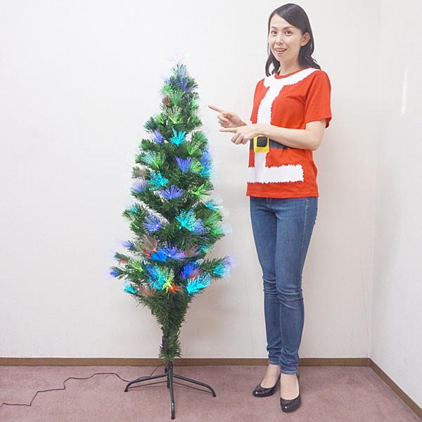 お買得 no-123926 飾り ディスプレイ クリスマスツリー クリスマス装飾 大型商品160cm以上 H150cm 保障 LEDスペシャルカラーチェンジファイバーツリー