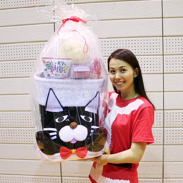 [送料無料] 全長60cm ジャンボネコちゃんタマブーツ お菓子入り ブーツ高41cm