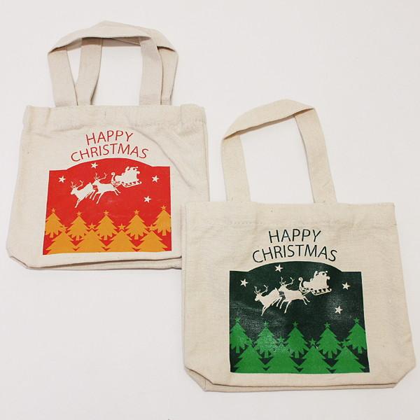 [送料無料] クリスマスプレゼントギフト用 XMASトートバッグ