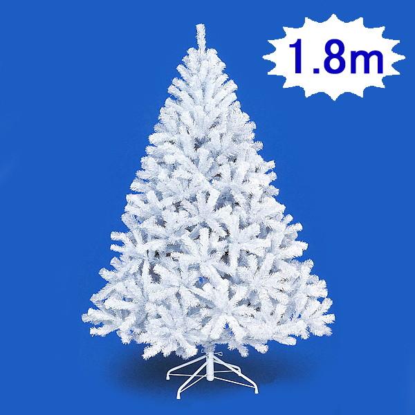 クリスマスツリー ホワイトパインツリー H180cm×W120cm 3分割 / 装飾 デコレーション [大型商品160cm以上]