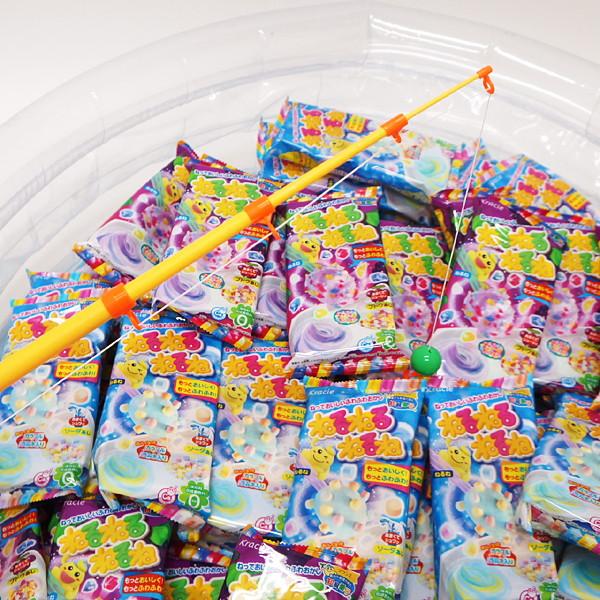 [送料無料] 釣ったねるねるねで、「当り」がでたら、お菓子「おっとっと」プレゼント。くじ付ねるねるねるねのお菓子つりつり大会 50名様用