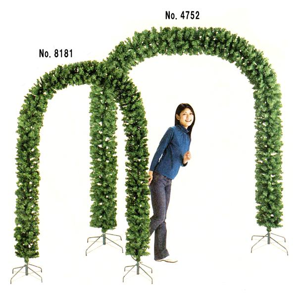[送料無料] クリスマス装飾 アーチツリー グリーン 小 W130cm×H230cm / ディスプレイ 飾り