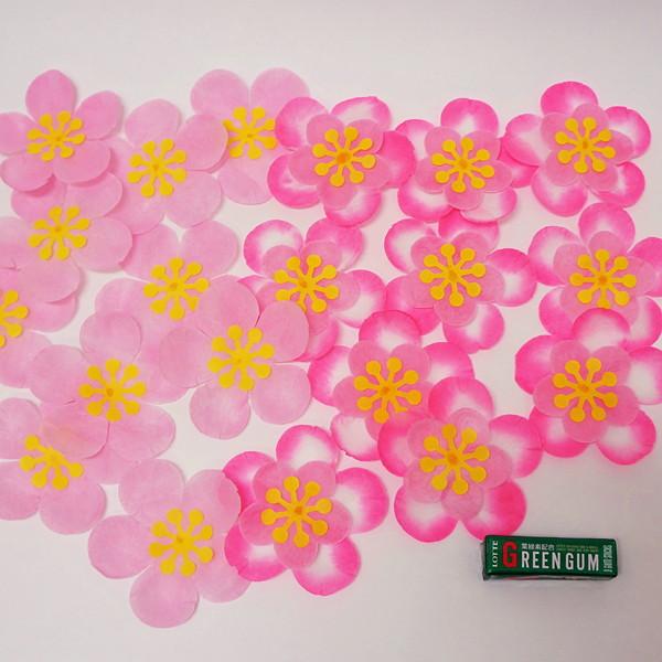 ひな祭り装飾 桃の花 W10cm 20枚セット / ディスプレイ 飾り 雛祭り